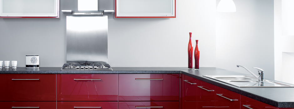 Kitchen Modern - Reflections Burgundy