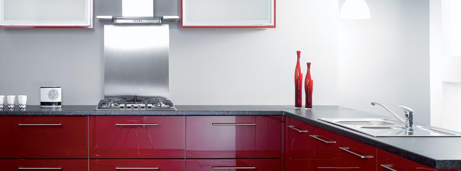 Kitchen Modern - Reflections Burgundy